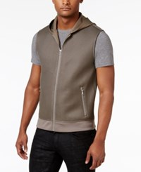 Inc International Concepts Men's Allan Hooded Vest Only At Macy's Taupe Tone