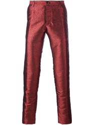Christian Pellizzari Metallic Tailored Trousers