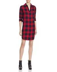 Rails Bianca Plaid Shirt Dress Midnight Garnet
