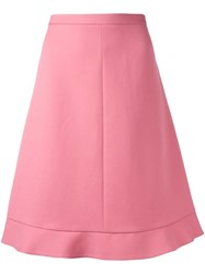 Red Valentino A Line Midi Skirt Pink Purple