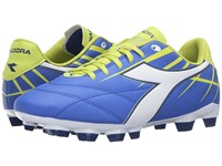 Diadora Forte W Md Lpu Electric Blue White Lime Women's Soccer Shoes
