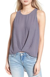 Astr Women's Textured High Low Tank