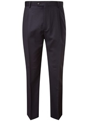Austin Reed Classic Fit Gabardine Suit Trousers Navy