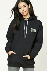 Forever 21 Nobody Cares Club Hoodie Black Yellow
