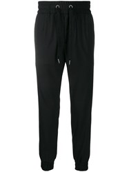 Dolce And Gabbana Tapered Track Trousers Black