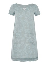 Brakeburn Tulip Short Sleeve Linen Dress Green