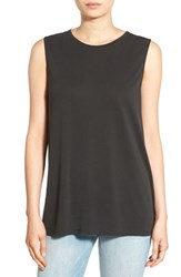 Sun And Shadow Women's Braided Detail Knit Tank Black