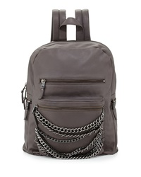 Ash Domino Chain Large Leather Backpack Elephant