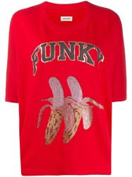 Zadig And Voltaire Funky Print T Shirt Red