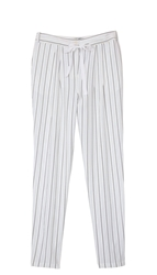 Tibi Striped Silk Track Pants