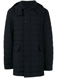Moncler Hooded Padded Coat Men Nylon Spandex Elastane Goose Down 3 Black