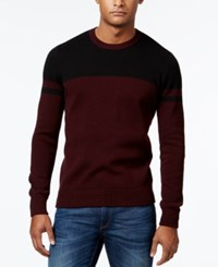 Kenneth Cole New York Men's Petrarch Colorblocked Sweater Merlot