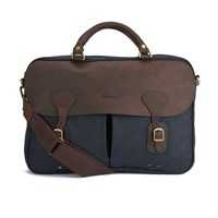 Barbour Men's Wax Leather Briefcase Navy