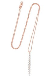 Anita Ko Twiggy 18 Karat Rose Gold Diamond Necklace One Size