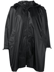 Zucca Hooded Cape Raincoat Unisex Polyester One Size Black