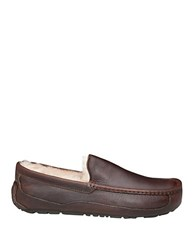 Ugg Ascot Leather Shearling Lined Slippers China Tea