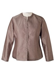 Chesca Topstitched Reversible Jacket Mocha Vanilla