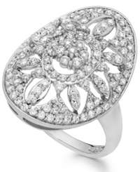 Wrapped In Love Diamond Antique Ring In 14K White Gold 1 Ct. T.W.