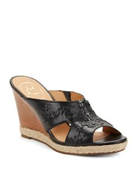 Jack Rogers Sophia Wedge Sandals Black
