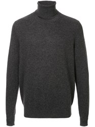 Chalayan Choker Knit Jumper Grey