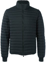 Z Zegna Funnel Neck Padded Jacket Black