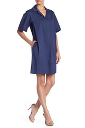 Lafayette 148 New York Zamira Front Button Dress Petite Dlft
