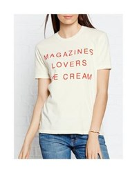 Wildfox Couture Wildfox I Owe It To Vintage T Shirt Off White