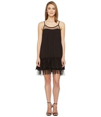 Brigitte Bailey Briah Spaghetti Strap Dress With Lace Detail Black Women's Dress