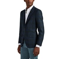 Isaia Sanita Plaid Wool Cashmere Two Button Sportcoat Gray
