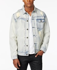 Inc International Concepts Men's Ripped And Faded Denim Jacket Only At Macy's Light Wash