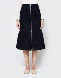 Edit Fishtail Skirt Pinstripe
