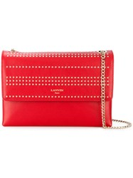 Lanvin Sugar Studded Bag Lamb Skin Nylon Viscose Red