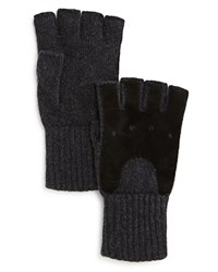 Bloomingdale's The Men's Store At Knit Fingerless Gloves Charcoal
