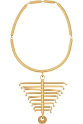 Paula Mendoza The Backbone Gold Plated Necklace