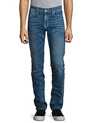 Cult Of Individuality Rebel Straight Leg Cotton Jeans Blue