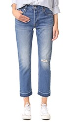 Levi's 501 Frayed Hem Jeans Wear And Tear