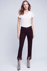 Anthropologie 3X1 Nyc High Rise Straight Cropped Fringe Jeans Black