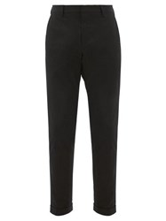 Paul Smith Slim Fit Cotton Blend Twill Chino Trousers Black