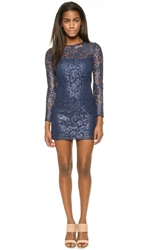 Rachel Zoe Biscari Long Sleeve Lace Shift Dress Ink