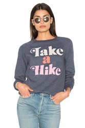 Junk Food Take A Hike Sweater Blue
