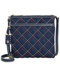 Tommy Hilfiger Julia Triple Quilted Nylon Small Crossbody Navy