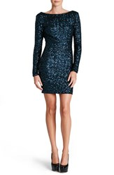 Women's Dress The Population 'Lola' Sequin Body Con Dress Navy