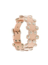 Red Valentino Flower Puzzle Bracelet Pink And Purple