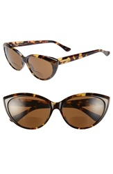 Corinne Mccormack 'Anita' 59Mm Cat Eye Reading Sunglasses Brown