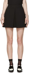 Mcq By Alexander Mcqueen Black Pleated Miniskirt