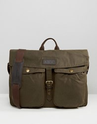 Barbour Waxed Retriever Messenger Bag Brown Brown
