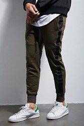 Forever 21 Ing2ing Side Stripe Sweatpants Olive