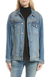 Frame Women's Le Studded Denim Jacket Gelder