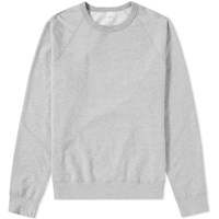 Save Khaki Supima Fleece Crew Sweat Grey