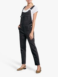 Hush Denim Dungarees Black